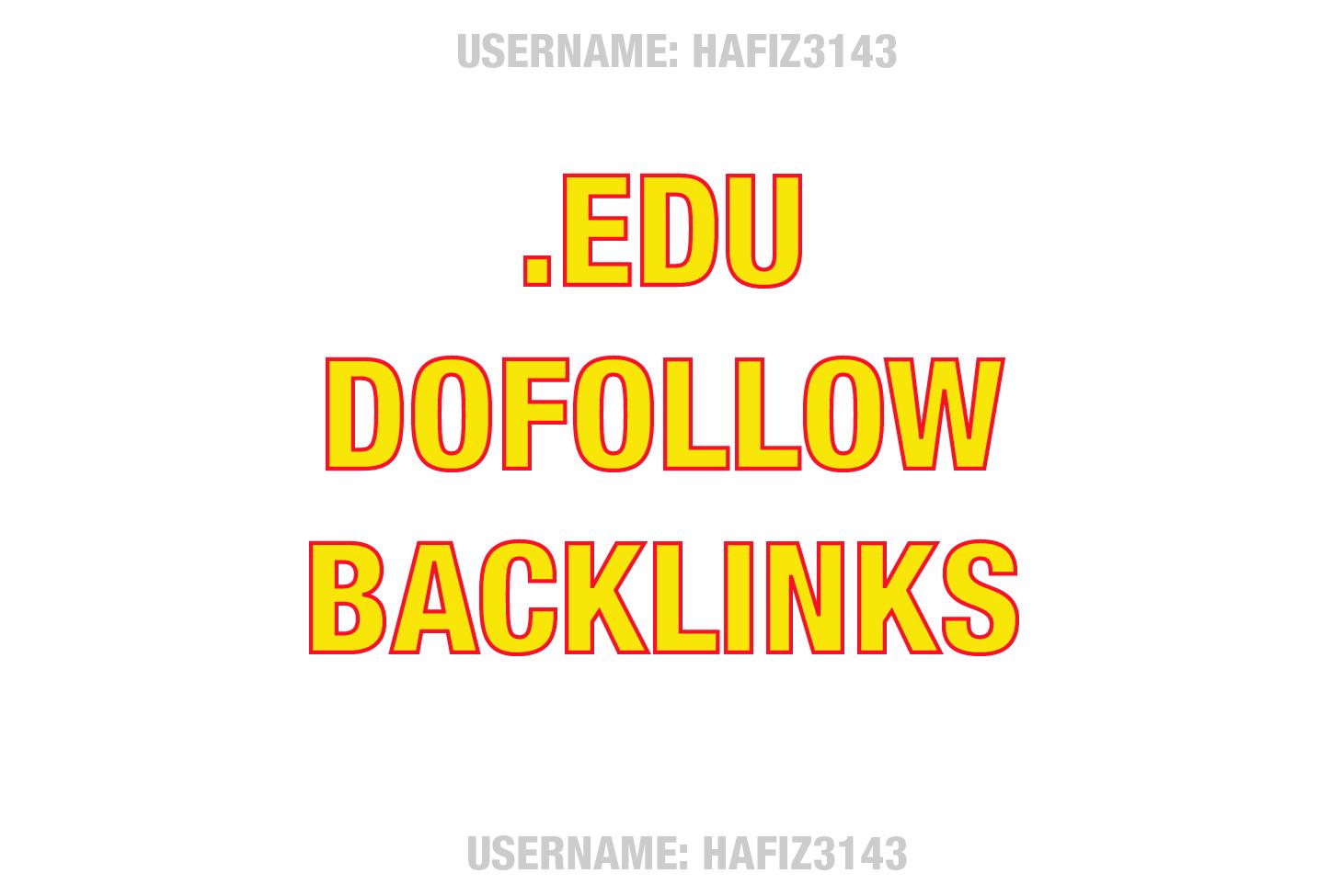 3 Dofollow Edu Contextual High Pr SEO authority Backlinks