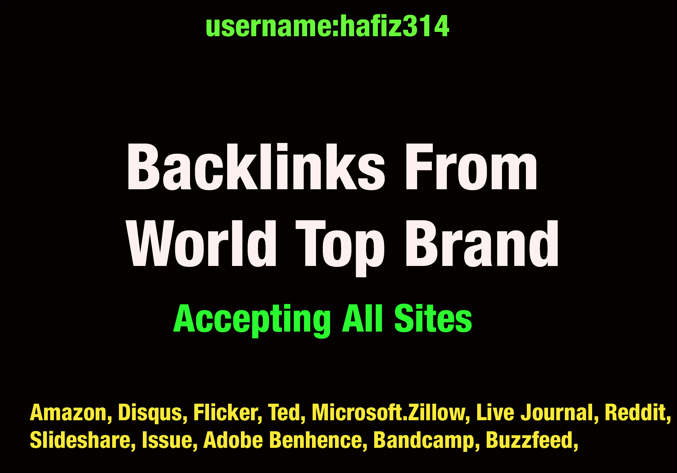 40 Profile Backlinks From World Top Brand