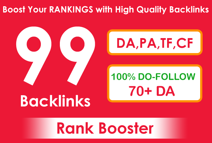 I will improve your website ranking with 99 backlinks