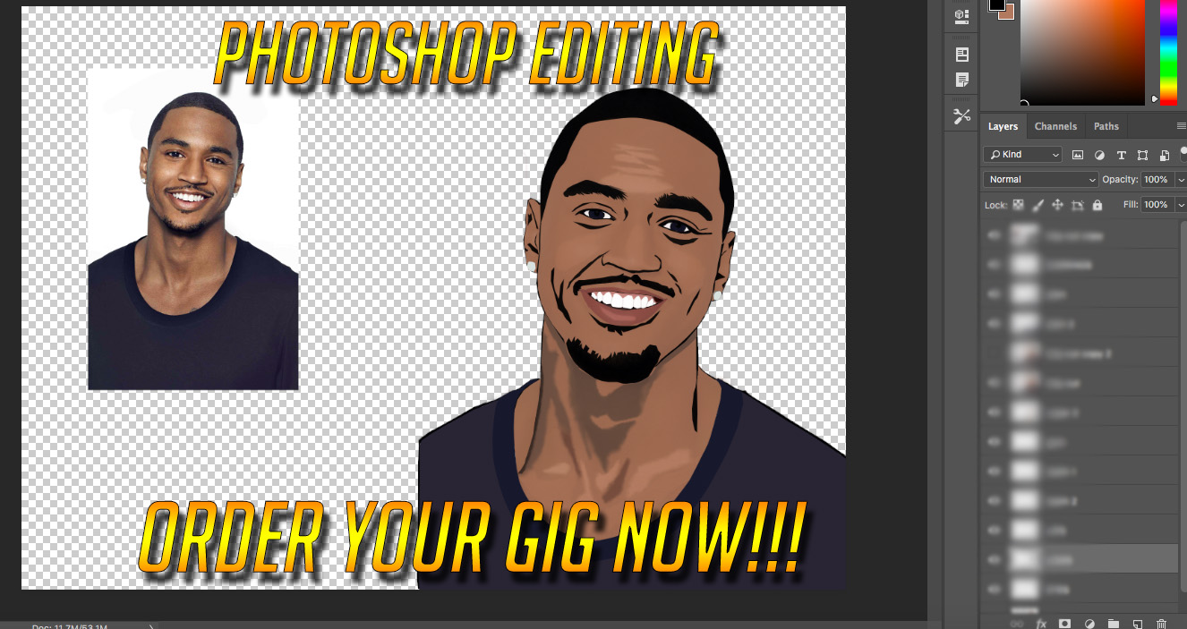 I Will Be Your Photoshop Editor