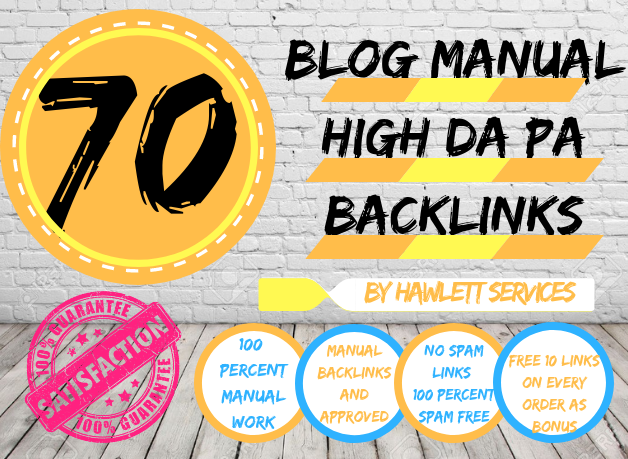 80 Blog Backlinks / High Da Pa Links / Approved And Indexed Accordingly To Google Updates