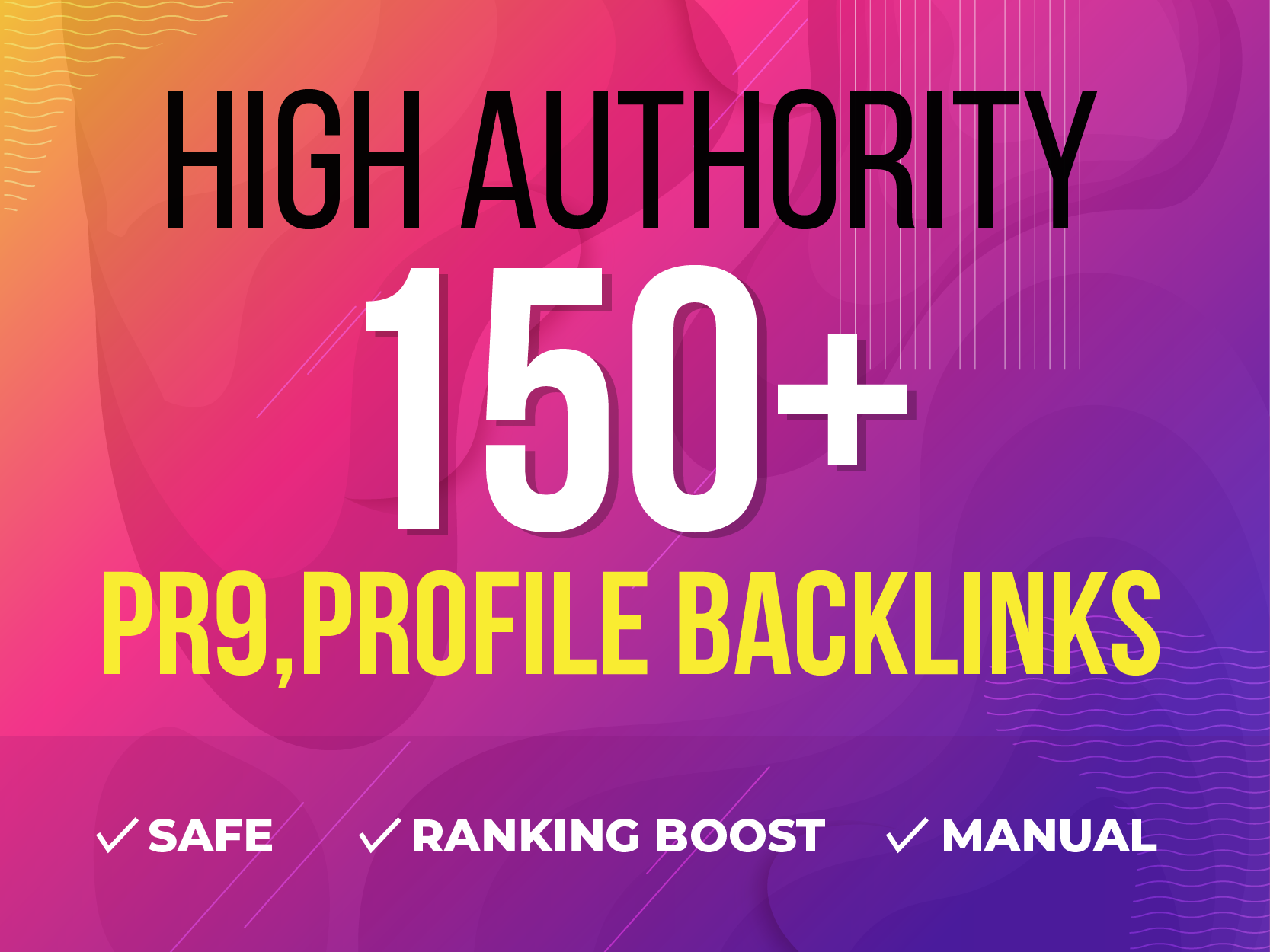 50 High Authority,  PR9 Profile Backlinks,  SEO SErvices
