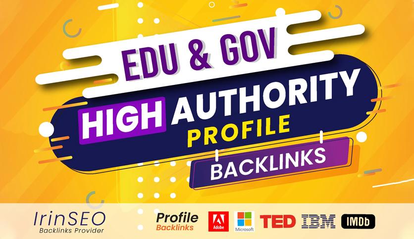 Manually 50 Profile Backlinks,  High DA,  PA,  PR9,  trust flow for website seo