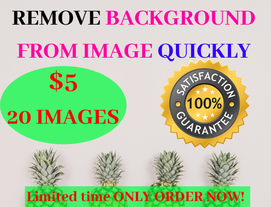 I will remove background from 20 images quickly