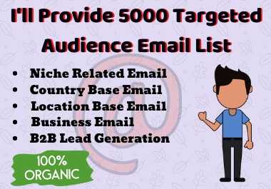 Get 5000 email list for your targeted audience