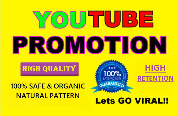 Provide Organic YouTube Video Promotion By Real Peoples