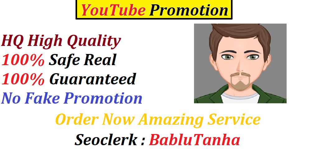 HQ Safe YouTube Promotion Social Media Marketing Social Networks Fast Delivery