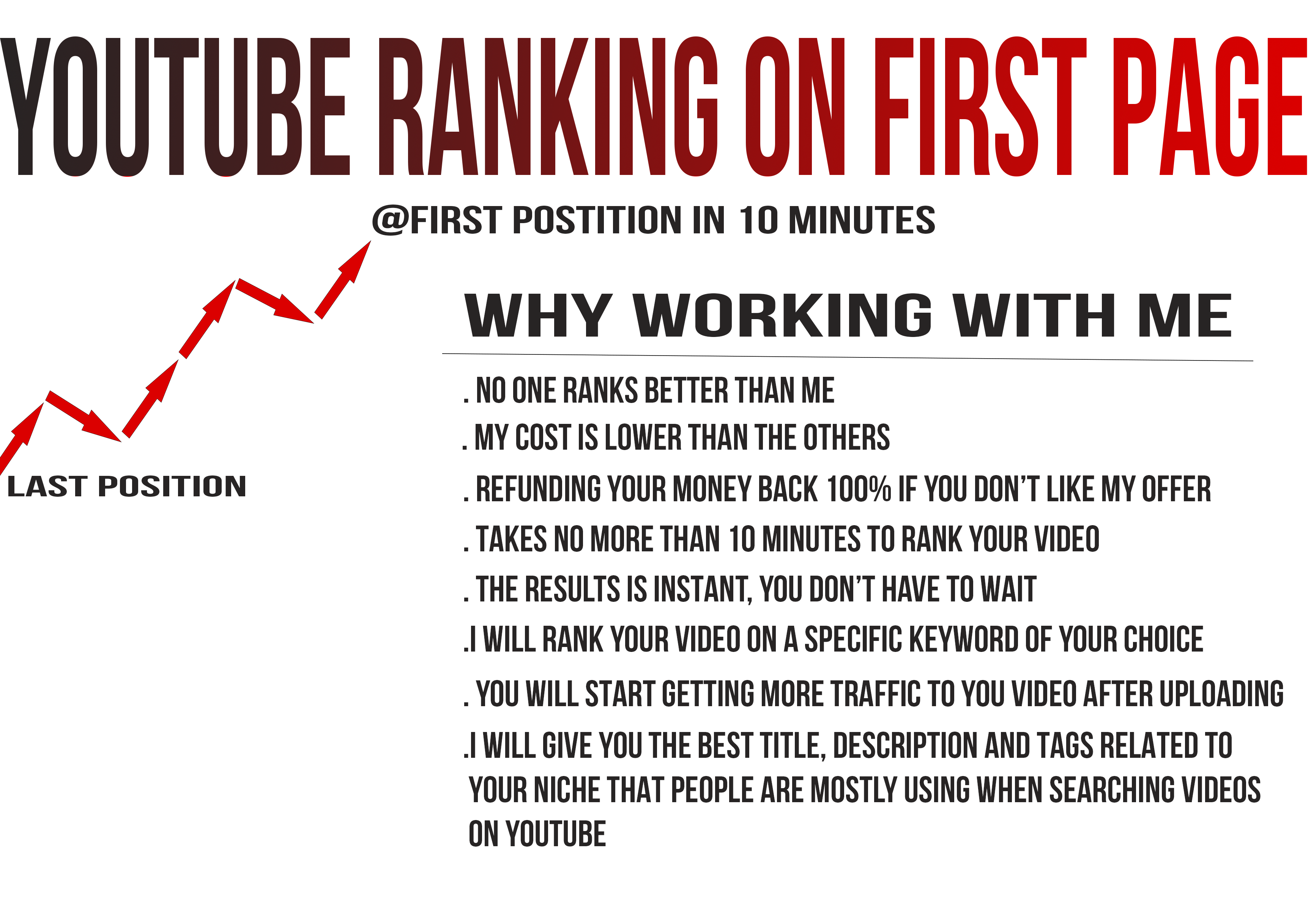 Youtube Ranking On First Page In 10MINS Or Get Your Money Back