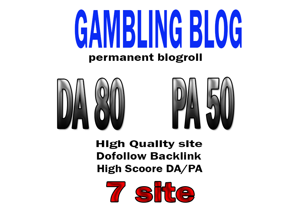 Backlink DA80x7 site gambling blogroll