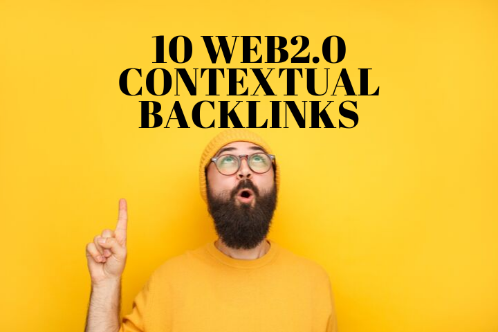 Create 10 Contextual Web2.0 Backlinks Service