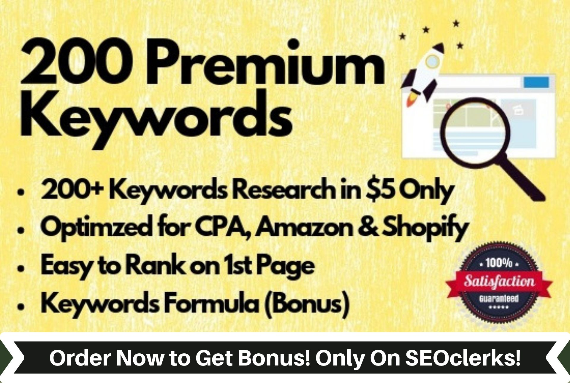 Provide In-Depth Profitable SEO Keyword Research with FREE SEO Audit