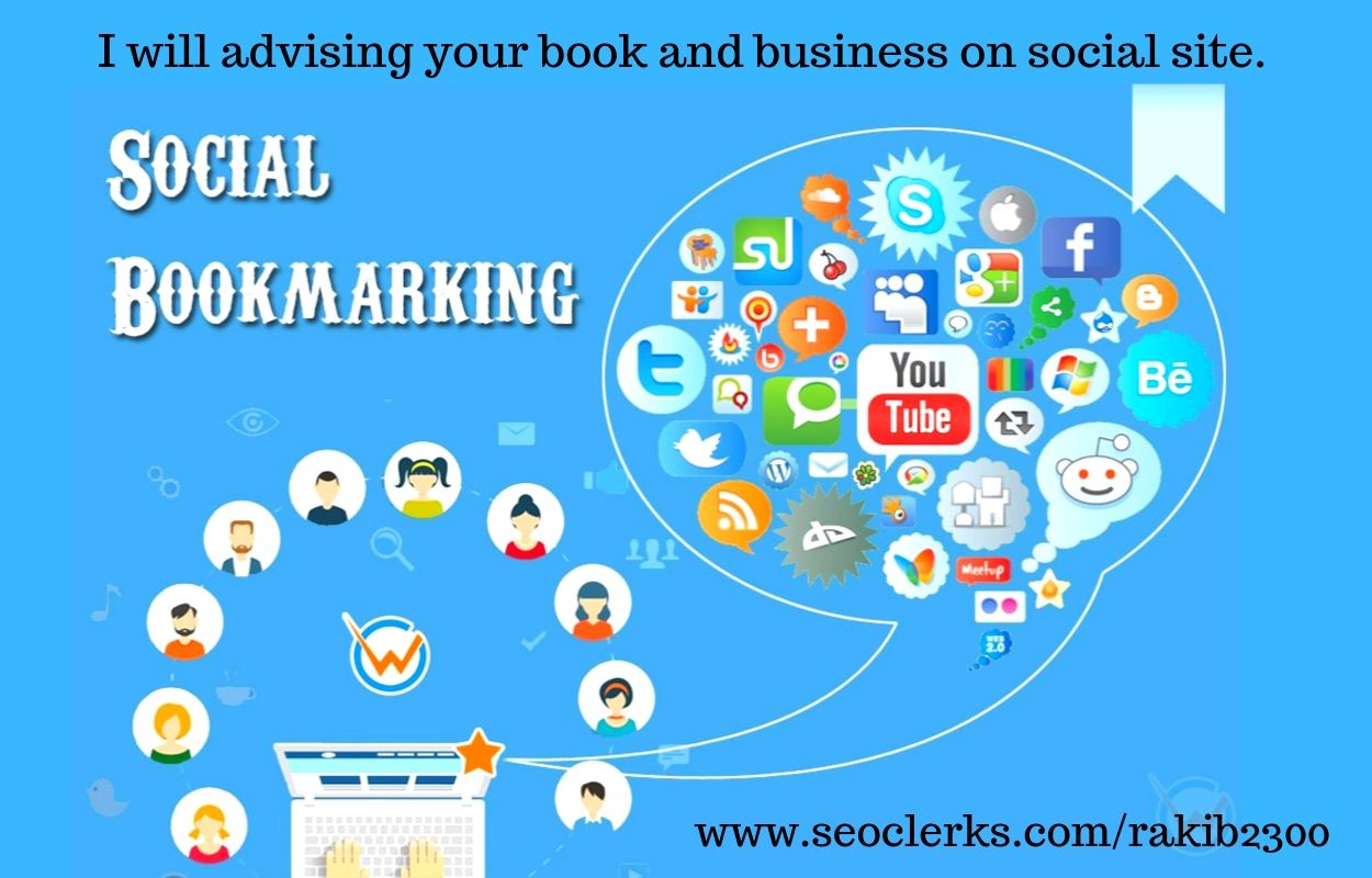 I will advising your books and business manually 25 bookmark with high quality on social site