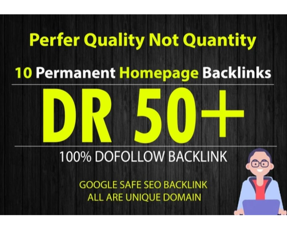 Build 10 PBN DR 50+ homepage parmanent backlinks