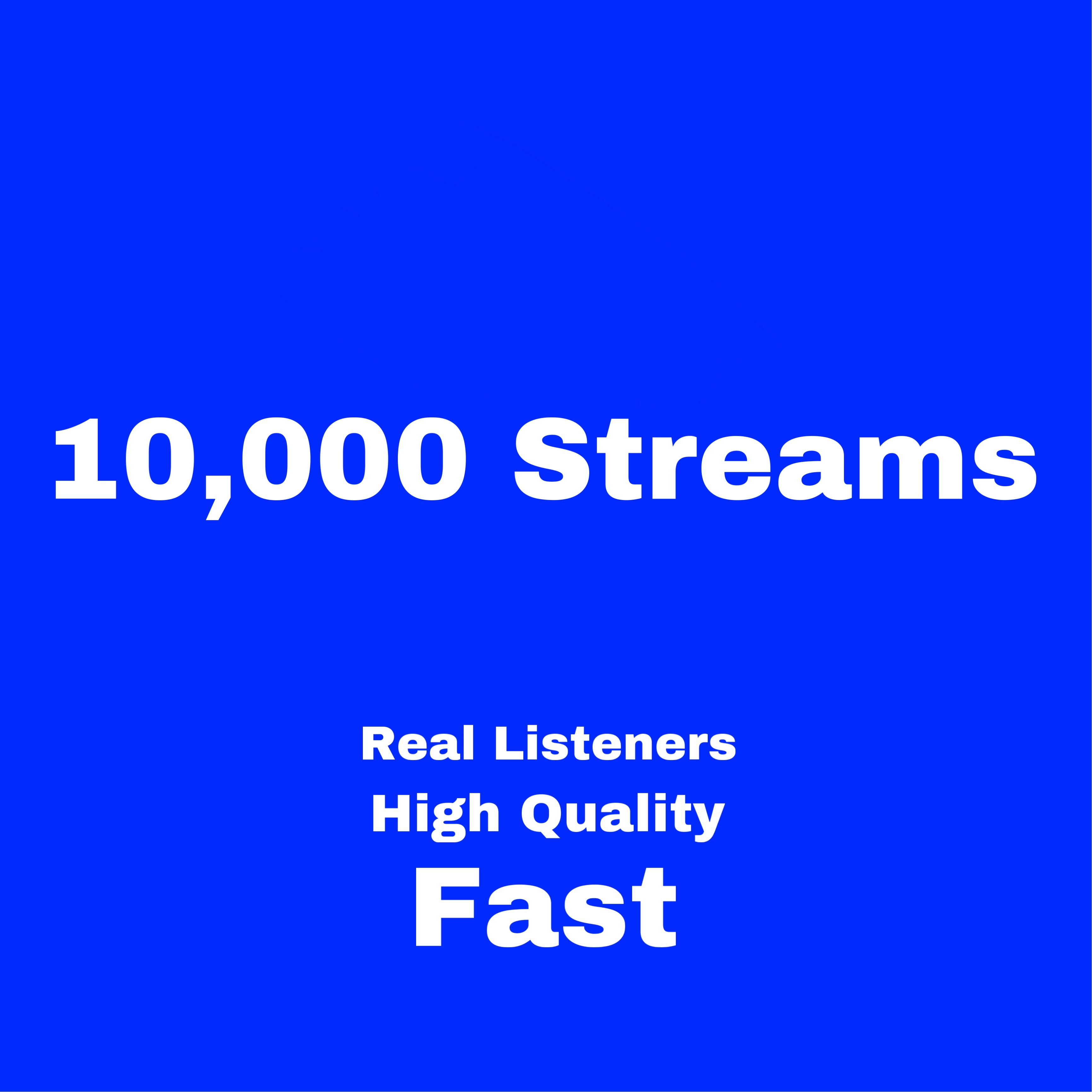 Quick Delivery 10,000 Artist Streams Replace 5 Days Refill Guaranteed