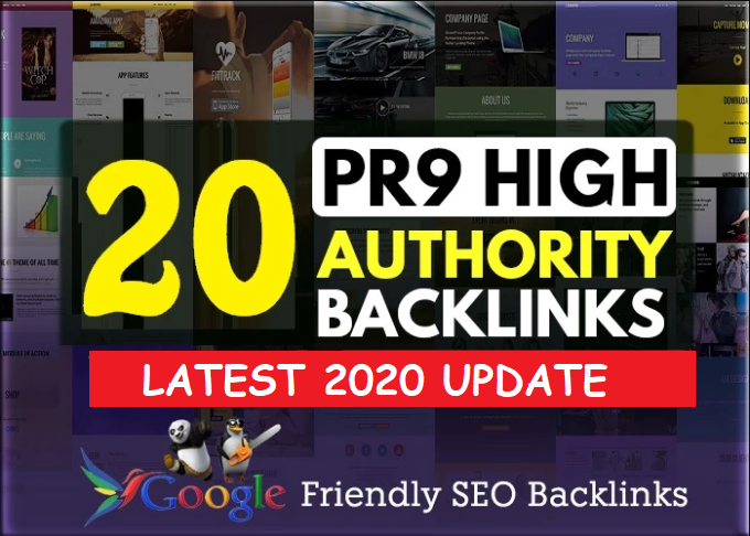 I will Manually create 20 PR9 90+ Domains Authority Hummingbird Safe White Hat SEO Backlinks