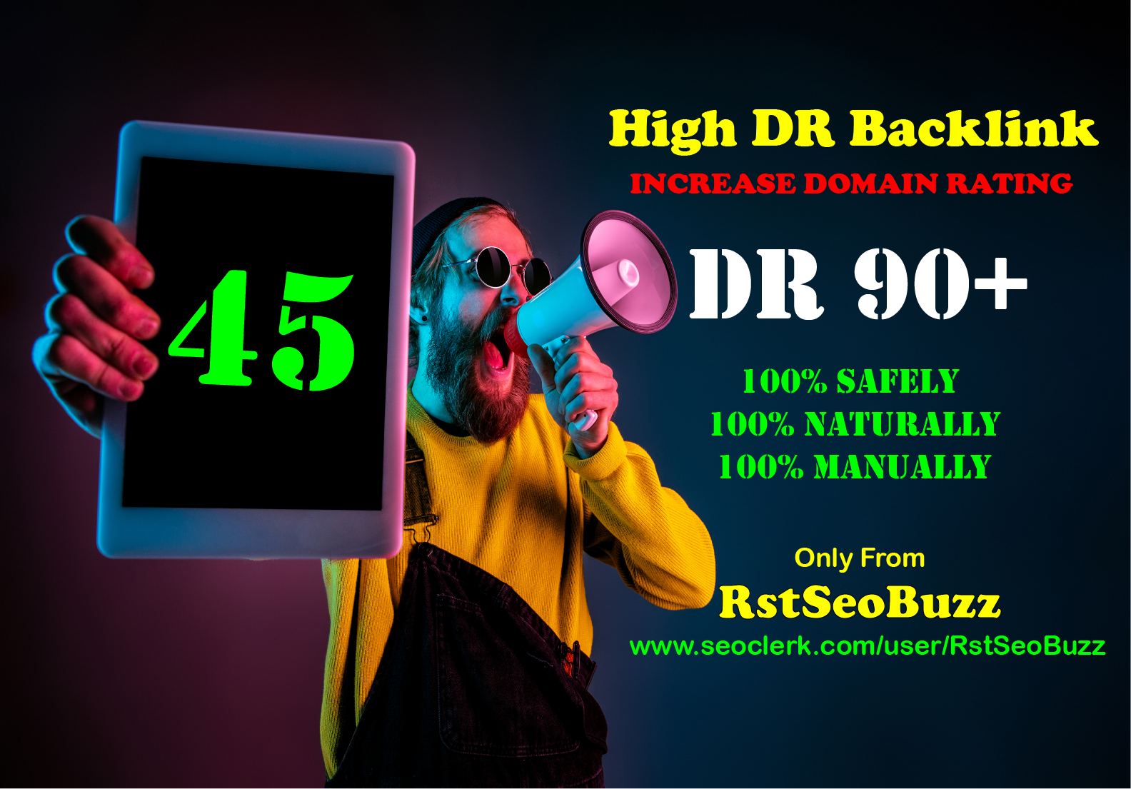 Authentic 45 DR90+ High DR SEO Backlinks to Increase Domain Rating 2021