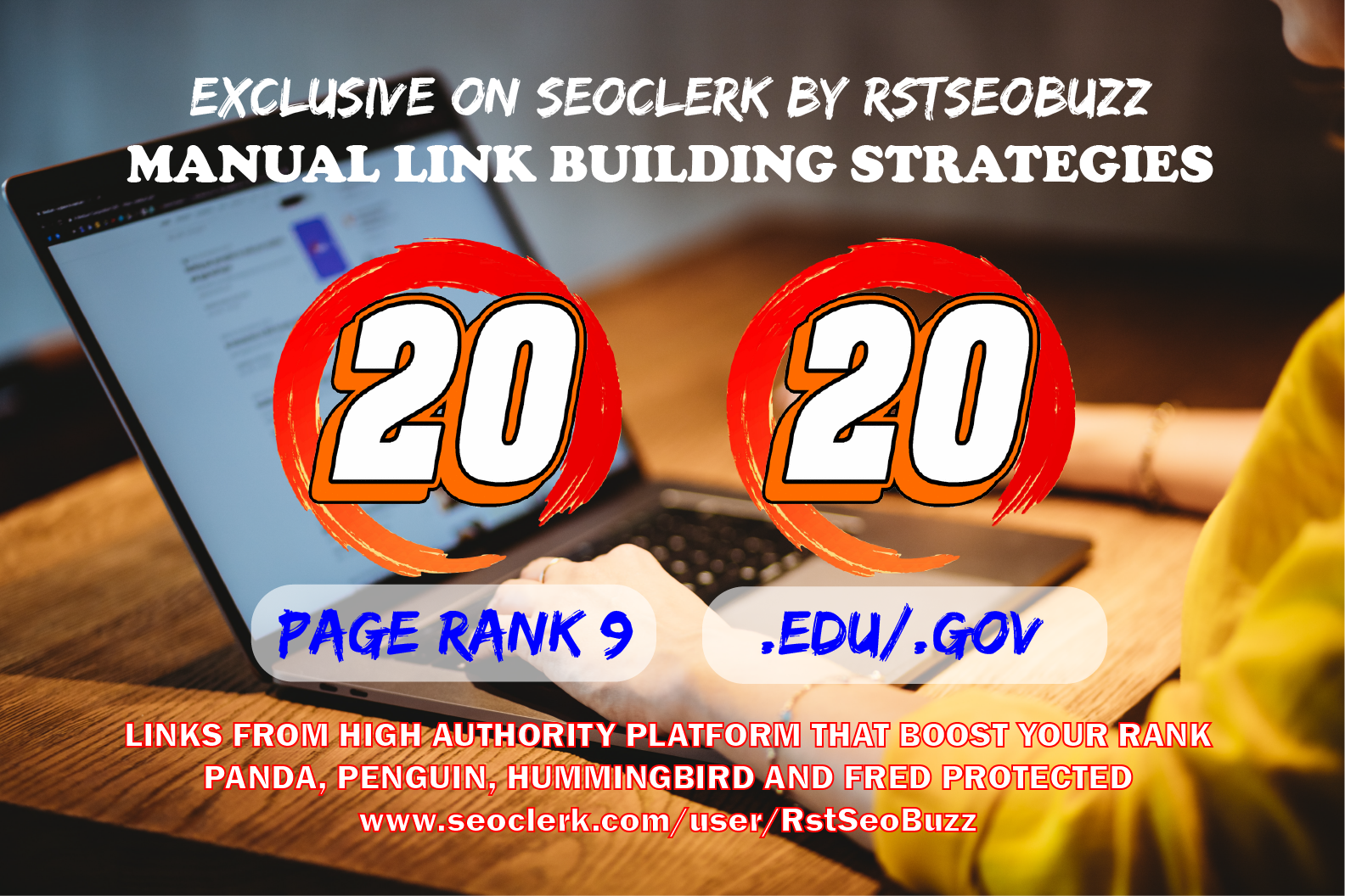 20 Pr9 + 20 Edu - Gov High SEO Authority Backlinks - Fire Your Google Ranking 2021