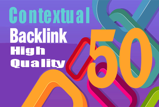 High Quality 50 contextual back links
