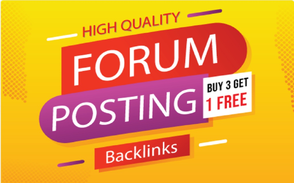 3o High Quality Forum Posting Backlinks with 30+ DA