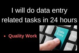 I will do perfect Data entry work.