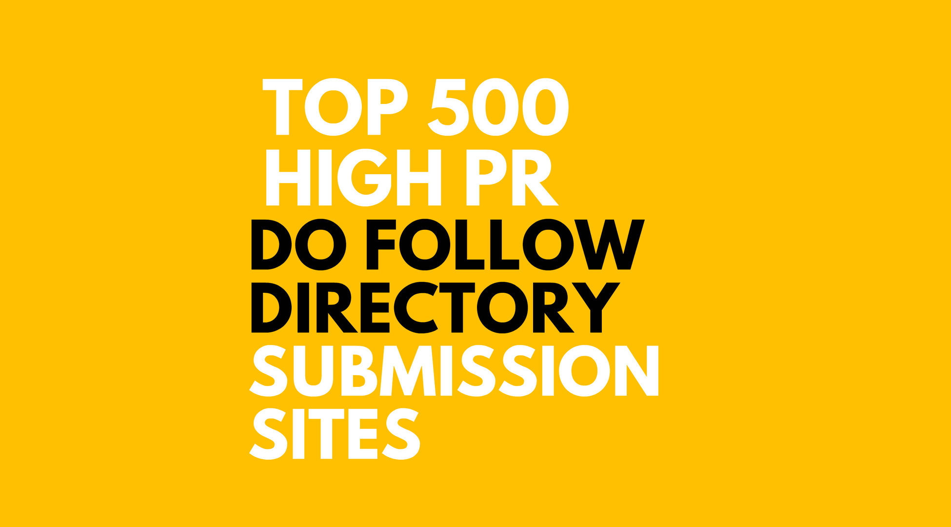 500 Directory submission manually for your site in less than 24 hour