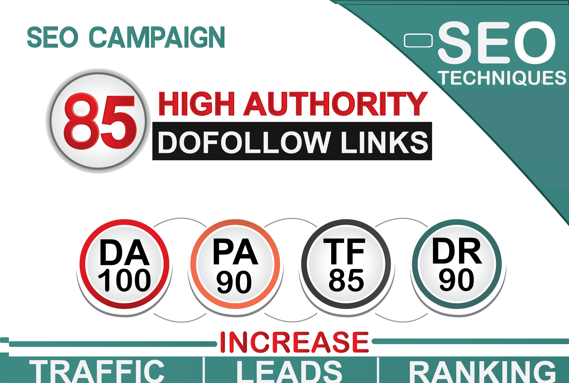 increase domain authority with 85 pr10 SEO backiinks