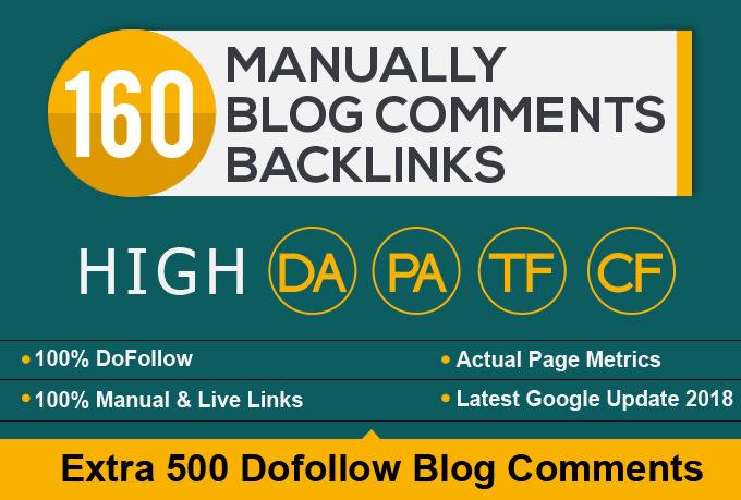 Do 160 High Pa Da Dofollow Blog Comments Dofollow Backlinks Manually