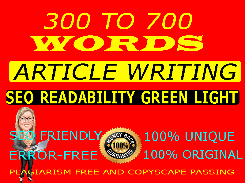 300-700 words unique and manually written premium article