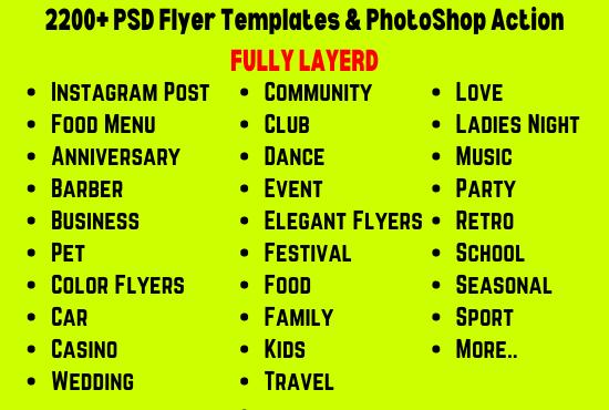 I will give you 2200 PSD Flyer Templates for adobe photoshop