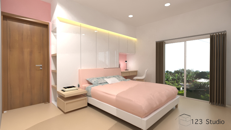 design and render a Bedroom interior