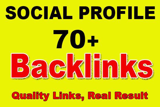 Create 70+ Social Media High Quality Profiles Pr Seo Backlinks