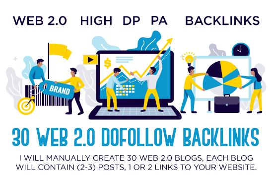 I Will do 30 manual high quality web 2 dofollow backlinks