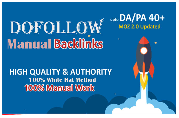 I will do 50 dofollow white hat backlink help for google first page ranking