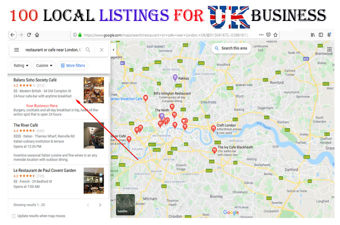 I will do 30 local listings for UK business