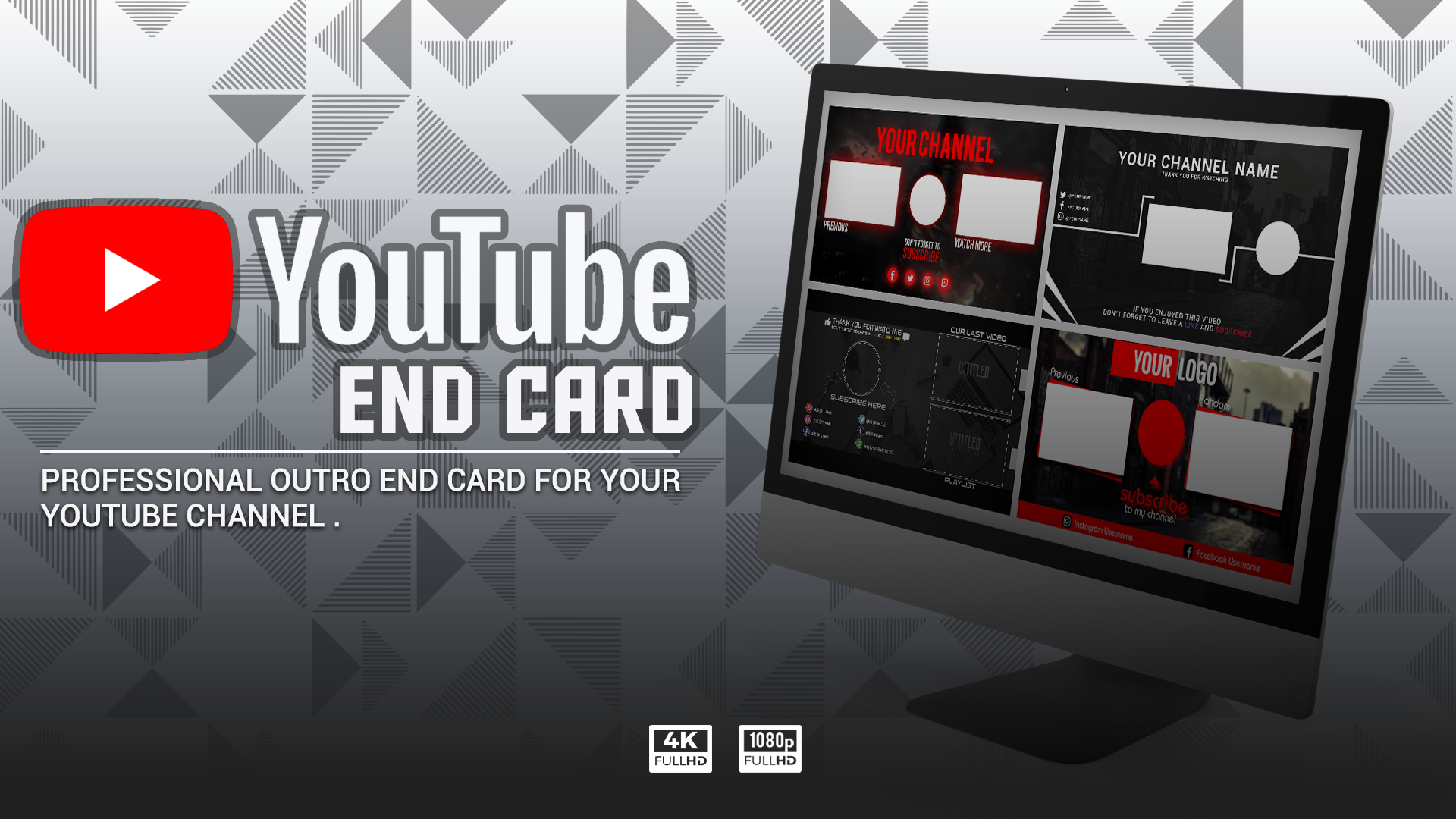 Youtube End Screen End Card Outro