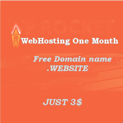 WebHosting One month - with Free Domain. Website