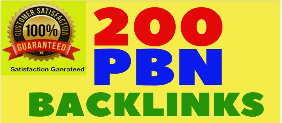I Will Provide 200 PBN Links Dofollow Backlinks High DA, PA, TC, CF,  Sites