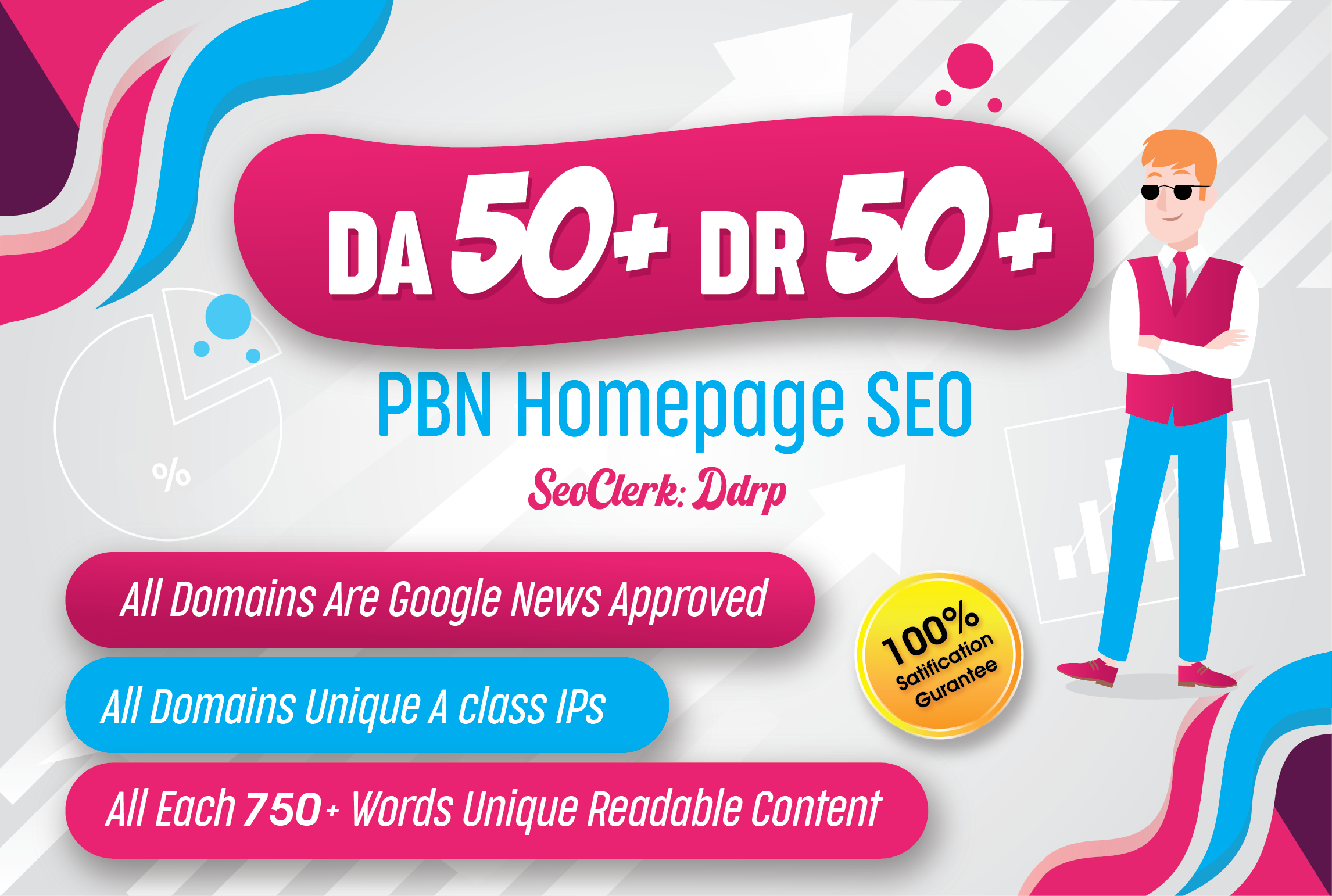 Build 5 Permanent DR50+ DA50+ Homepage PBN Dofollow Backlink