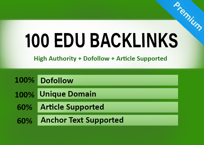 100 EDU and Gov Dofollow Backlinks Manually Created