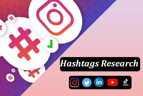 I will research targeted social media hashtags and Youtube tags