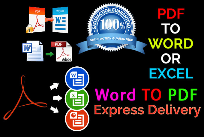 I will convert pdf,  word,  excel,  google docs,  png,  jpg and any format