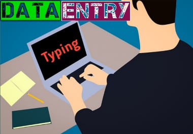 Data Entry Jobs,  Data Entry,  Typing,  copy paste or other typing bases services for with related work