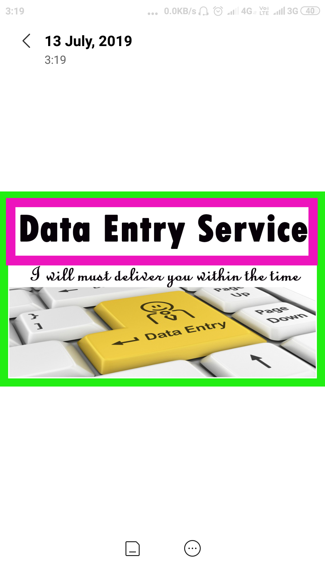 Data entry work online and off line
