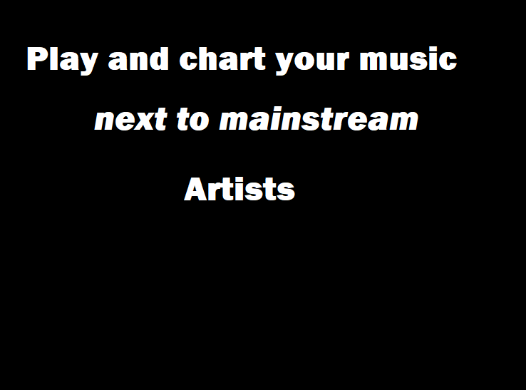 I will play and chart your music next to mainstream artists