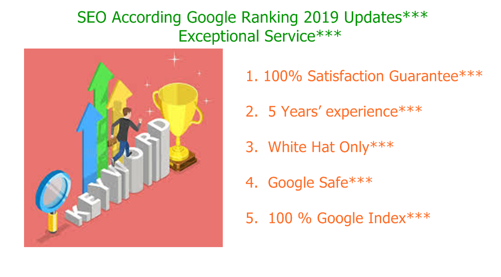 Guaranteed Ranking on Google 1st Page With On-page and Off-page Optimization.