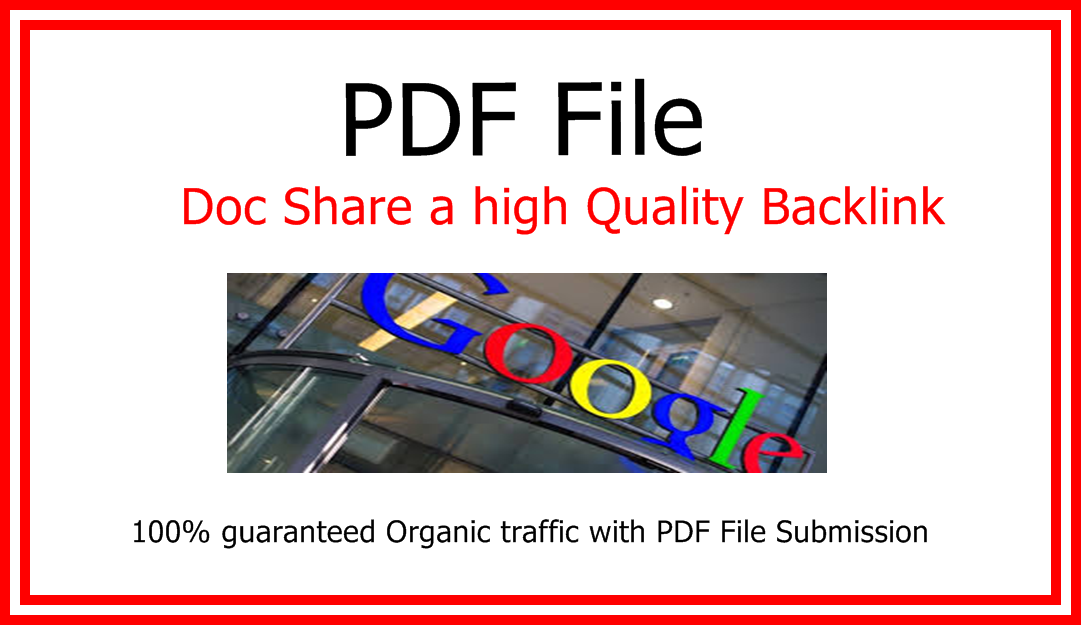 Guaranteed Traffic With High quality 2 PDF File Submission or Back link