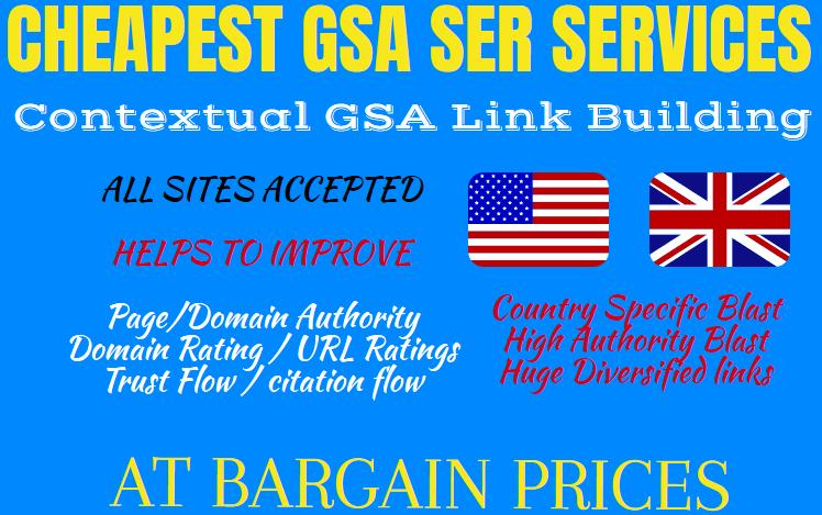 CHEAPEST SEO SERVICE MULTI TIER GSA SER LINK BUILDING 1K Contextual + 5K Mix Links