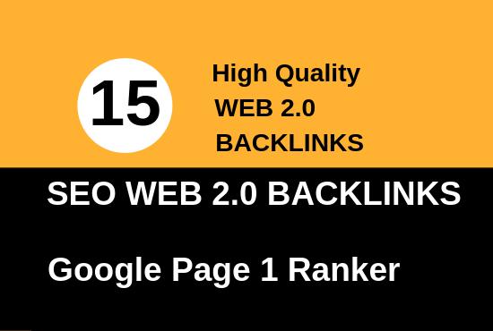 do manual 15 high quality web 2.0 backlinks