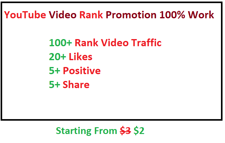 Promote Your YouTube video Ranking