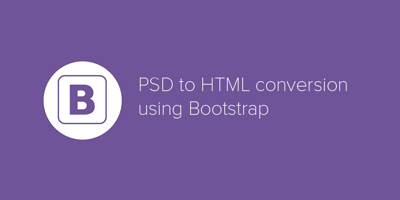 Convert psd/xd/sketch/img to html using bootstrap